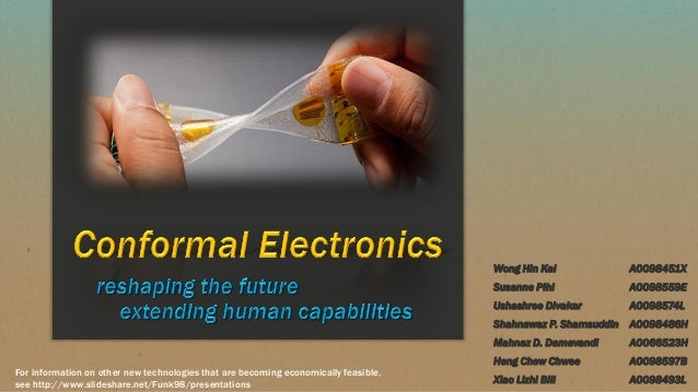 Conformal electronics and their economic feasiblity