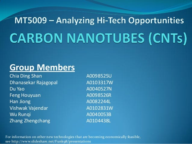 Carbon nanotubes and their economic feasibility