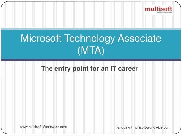 Microsoft Technology Associate (MTA) Certification Path