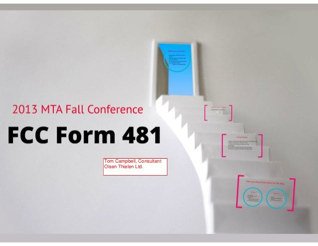 FCC Form 481