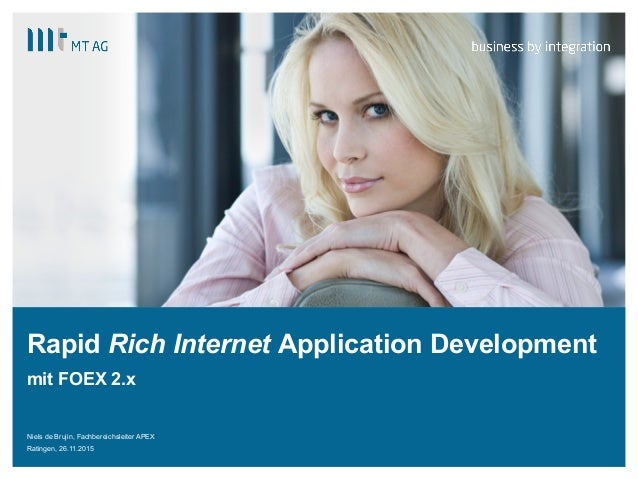 | Rapid Rich Internet Application Development mit FOEX 2.x Niels de Brujin, Fachbereichsleiter APEX Ratingen, 26.11.2015
