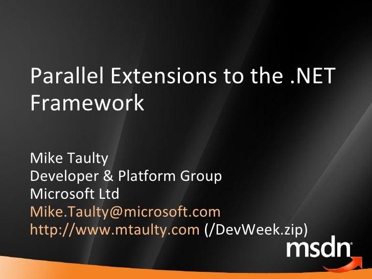 MTaulty_DevWeek_Parallel