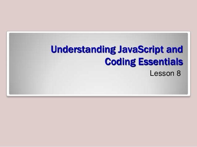 MTA understanding java script and coding essentials