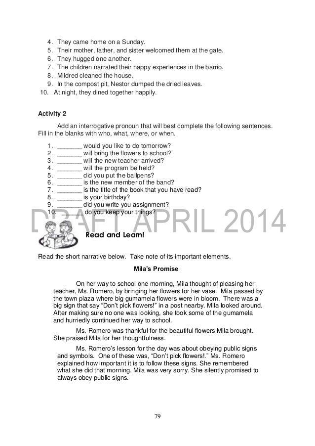 halimbawa ng book report