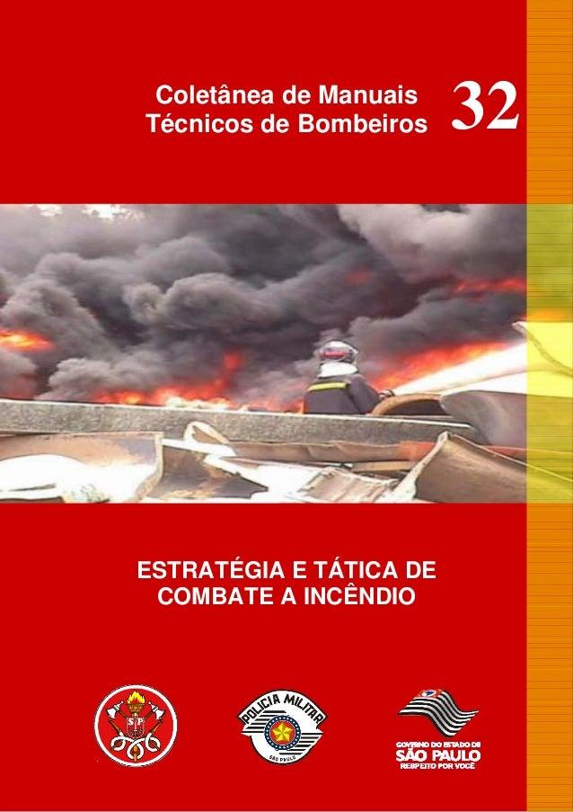 Mtb 32 estratégia e tatica de combate a incêndio