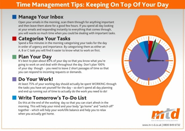 Tips for time management at home