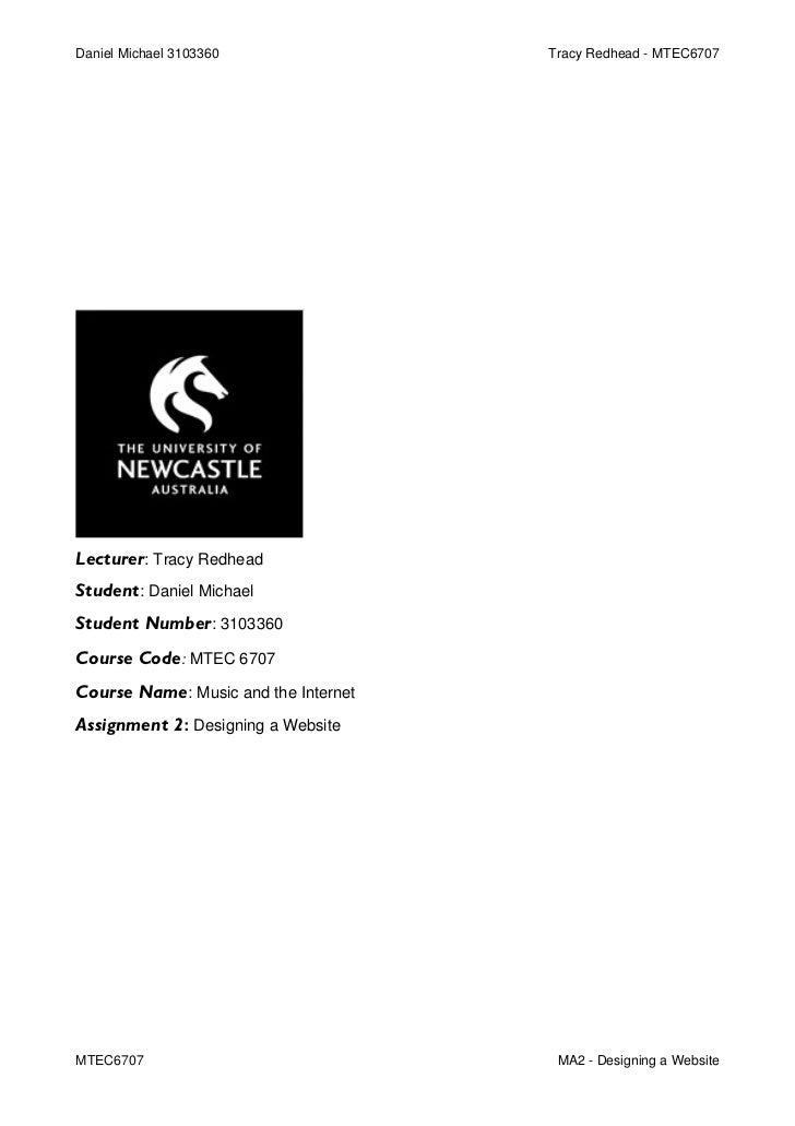 Mtec6707 Univesity of Newcastle - Website Development