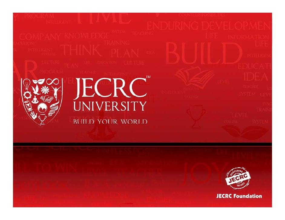 JECRC University OffersMaster of Technology  Energy Management