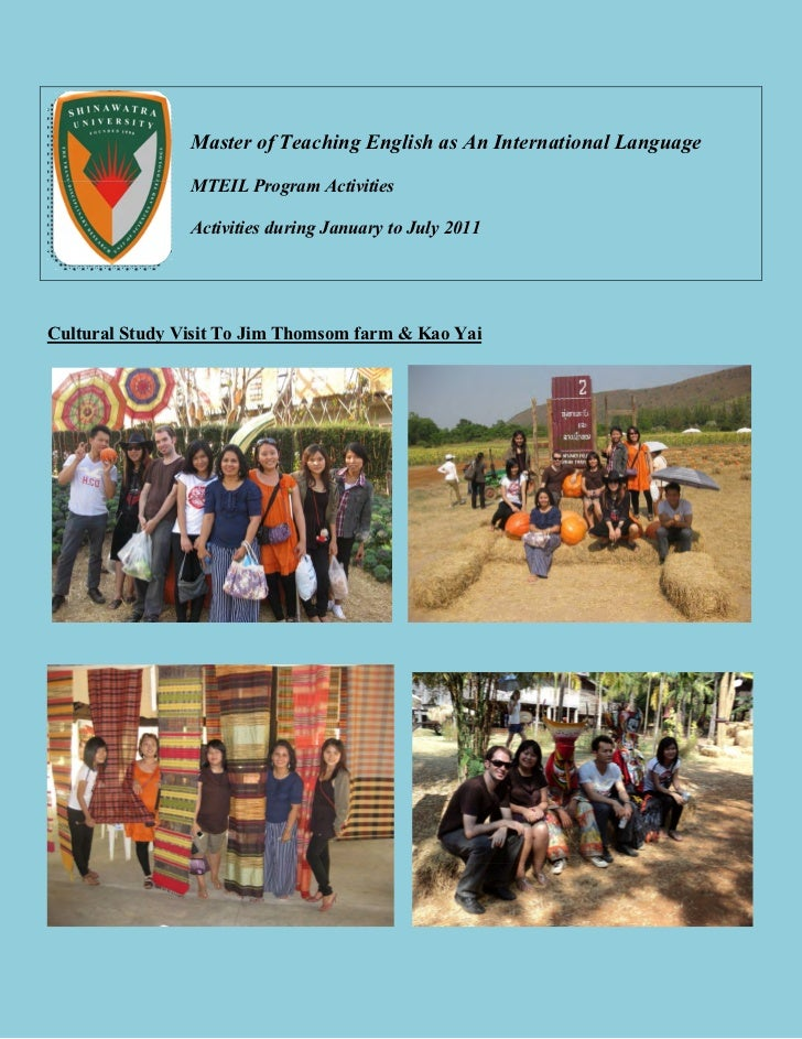 Master of Teaching English as An International Language                MTEIL Program Activities                Activities ...