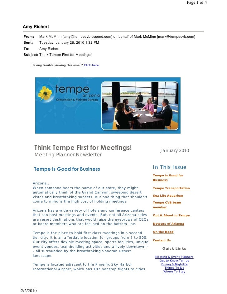 Having trouble viewing this email? Click here           Think Tempe First for Meetings!                                   ...