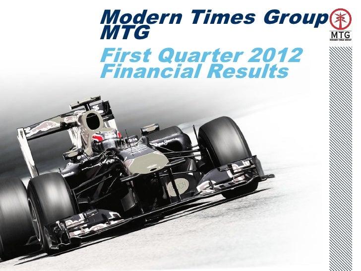MTG Q1 2012 Presentation