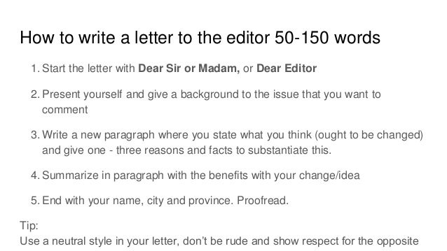 How to write a letter to the editor rwWT1rMm