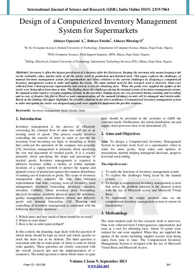 literature review on computerized sales management Implementing an advanced computerized provider order entry system  the kotter's change management model review of the literature   computerized.