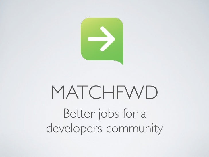 Better jobs for a developers community