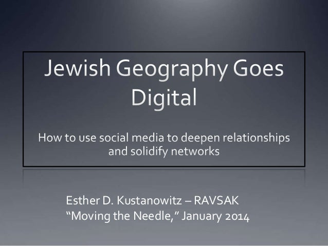 "Esther D. Kustanowitz – RAVSAK ""Moving the Needle,"" January 2014"