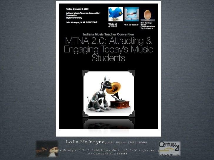 Lola McIntyre,  M.M., Pianist | REALTOR® Lola McIntyre, P.C. d/b/a McIntyre Music | d/b/a Mcintyre realty for CENTURY 21 S...