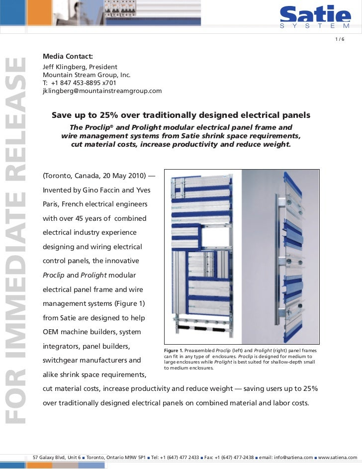 Mountain Stream Group: Portfolio Sample - Satie Press Release