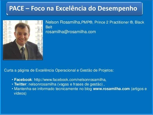 Nelson Rosamilha,PMP®, Prince 2 Practitioner ®, BlackBeltrosamilha@rosamilha.comCurta a página de Excelência Operacional e...