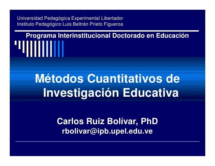 Universidad Pedagógica Experimental Libertador Instituto Pedagógico Luis Beltrán Prieto Figueroa      Programa Interinstit...