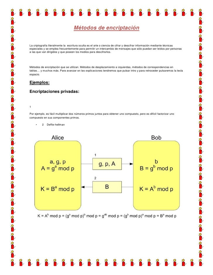 Métodos de encriptación<br />La criptografía literalmente la  escritura oculta es el arte o ciencia de cifrar y descifrar ...