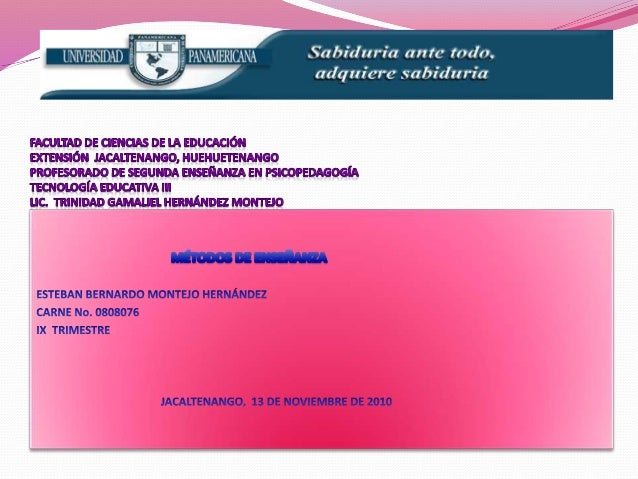FACULTAD DE CIENCIAS DE LA EDUCACIÓNEXTENSIÓN  JACALTENANGO, HUEHUETENANGOPROFESORADO DE SEGUNDA ENSEÑANZA EN PSICOPEDAGOG...