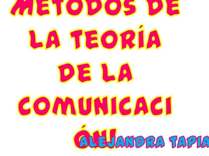 Concepto: •Encargado de vercomo se produce la    comunicación • manera en que se   retroalimentación    estudia a los   pr...