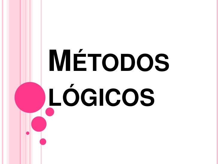 MÉTODOSLÓGICOS