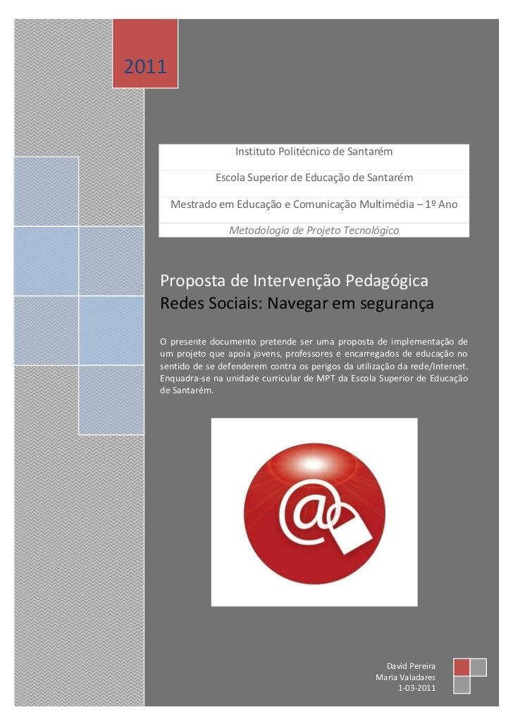 2011                     Instituto Politécnico de Santarém                Escola Superior de Educação de Santarém       Me...
