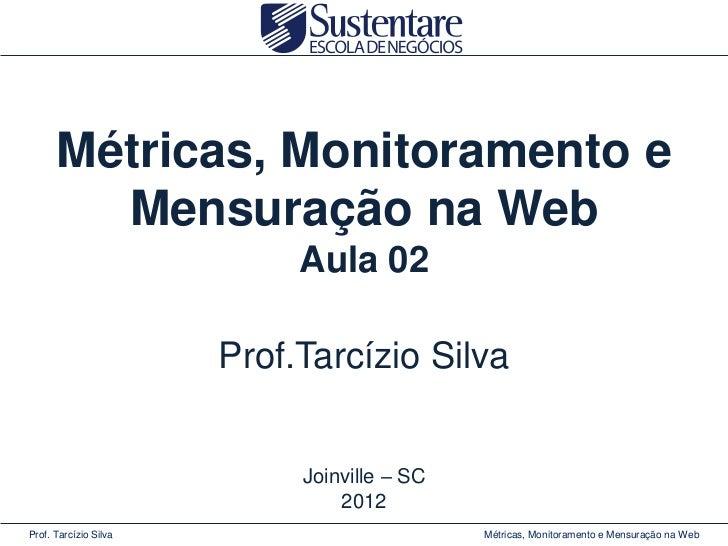 Métricas, Monitoramento e        Mensuração na Web                            Aula 02                       Prof.Tarcízio ...