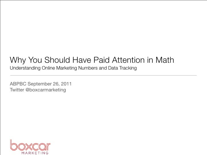 ABPBC: Measuring the Success of Your Online Marketing Campaigns