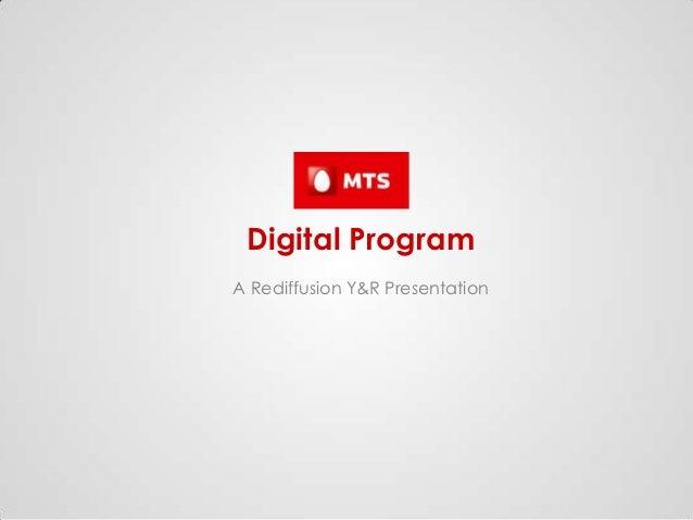 Digital ProgramA Rediffusion Y&R Presentation