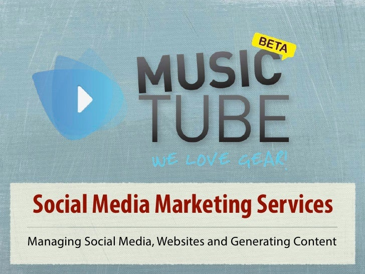 Social Media Marketing ServicesManaging Social Media, Websites and Generating Content