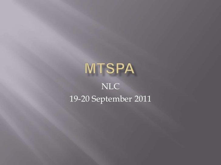 Mt SPA NLC Report