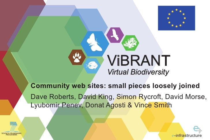 ViBRANT                                           Virtual Biodiversity                     Community web sites: small piec...