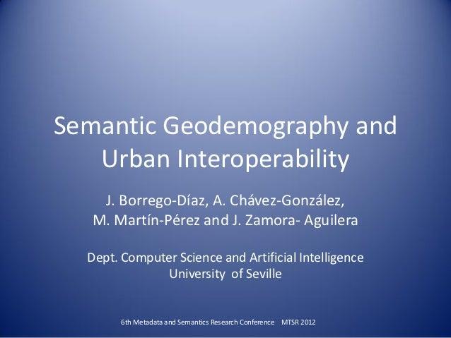 Semantic Geodemography and Urban interoperability