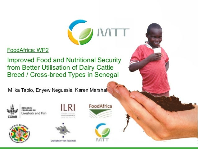 Improved food and nutritional security from better utilisation of dairy cattle breed/cross-breed types in Senegal