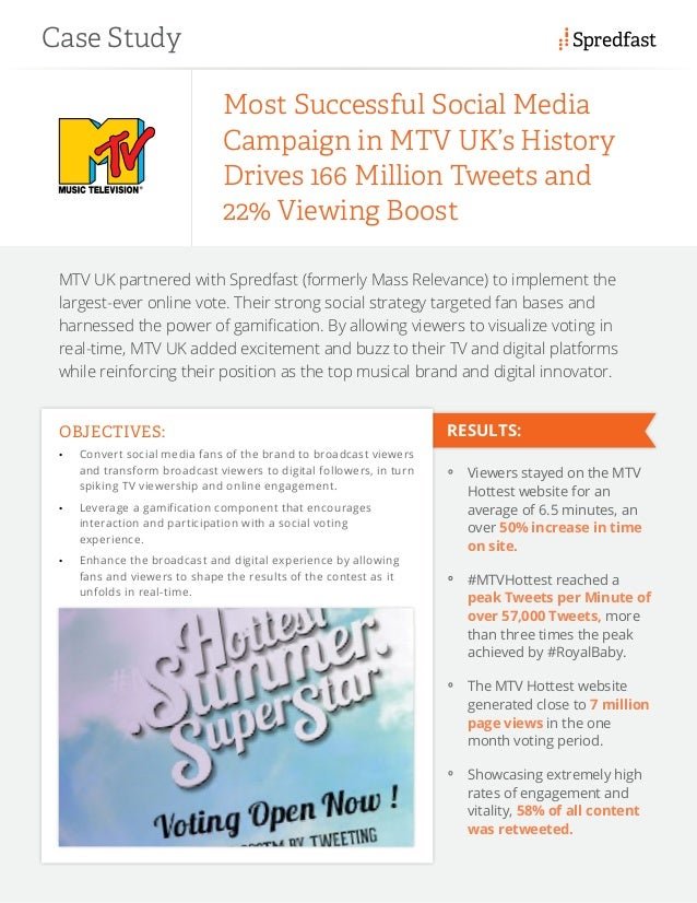 MTV UK partnered with Spredfast (formerly Mass Relevance) to implement the largest-ever online vote. Their strong social s...