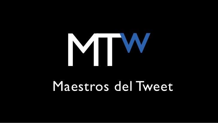 Maestros del Tweet