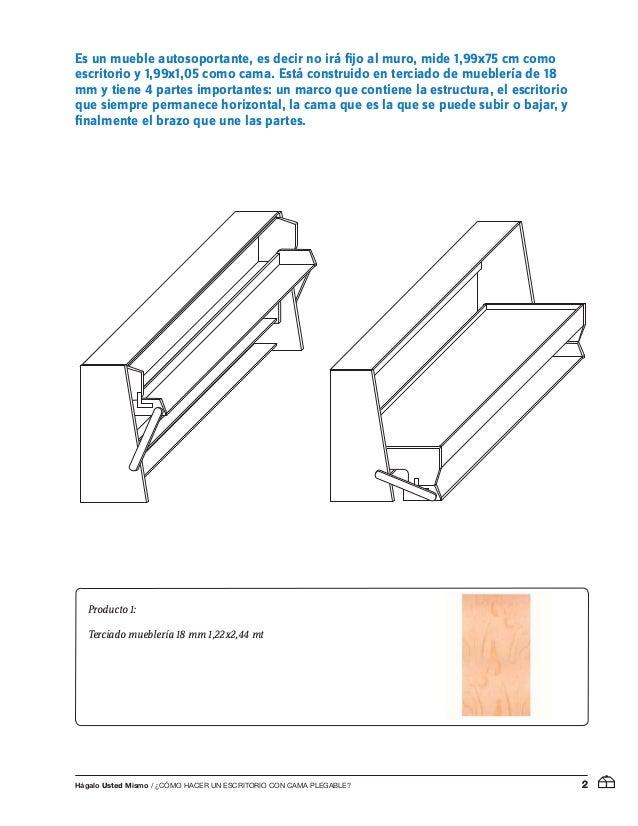 Mu is56 como hacer un escritorio con cama plegable - Construir cama abatible ...