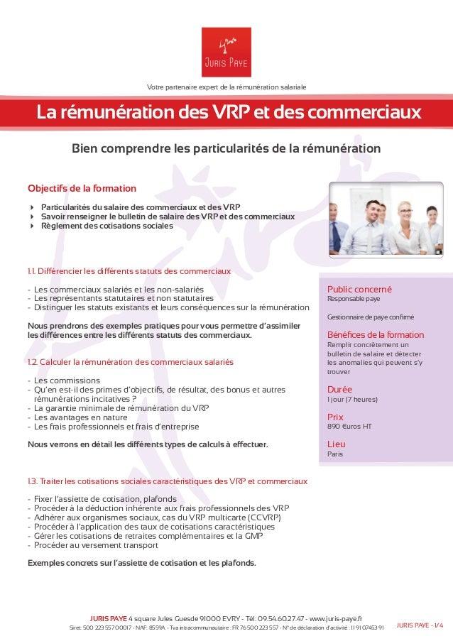 Votre partenaire expert de la rémunération salariale  La rémunération des VRP et des commerciaux  Bien comprendre les part...