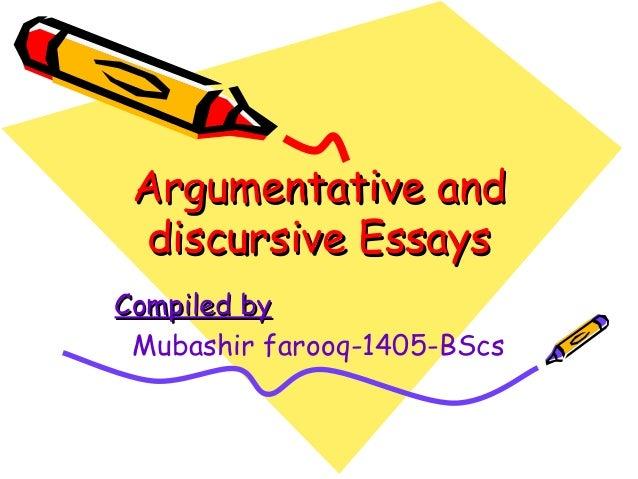 Discursive Essay Ideas