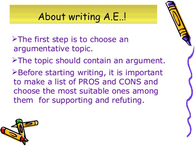 Argumentative essay....what topic to choose?