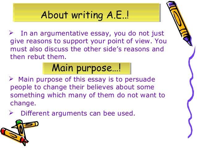 main features of argumentative essay