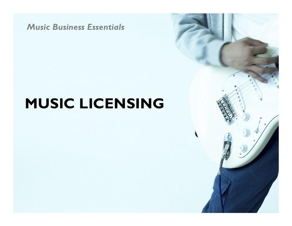 MUC109.LEC 9 Music Licensing