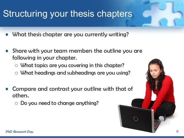 thesis chapters sections