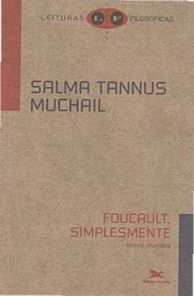 "SRLMR TRNNUS MUCHRIL  FOÜCAULT. S1MPLESMENTE  """" ,', ,. """""
