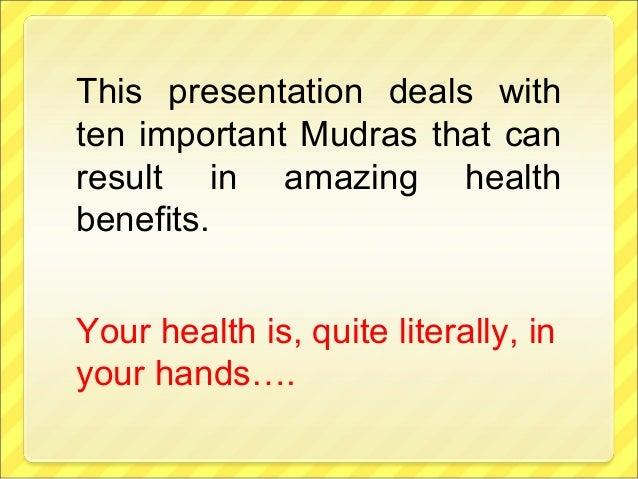 MUDRAS - Yoga/ Finger Exercises for better Health