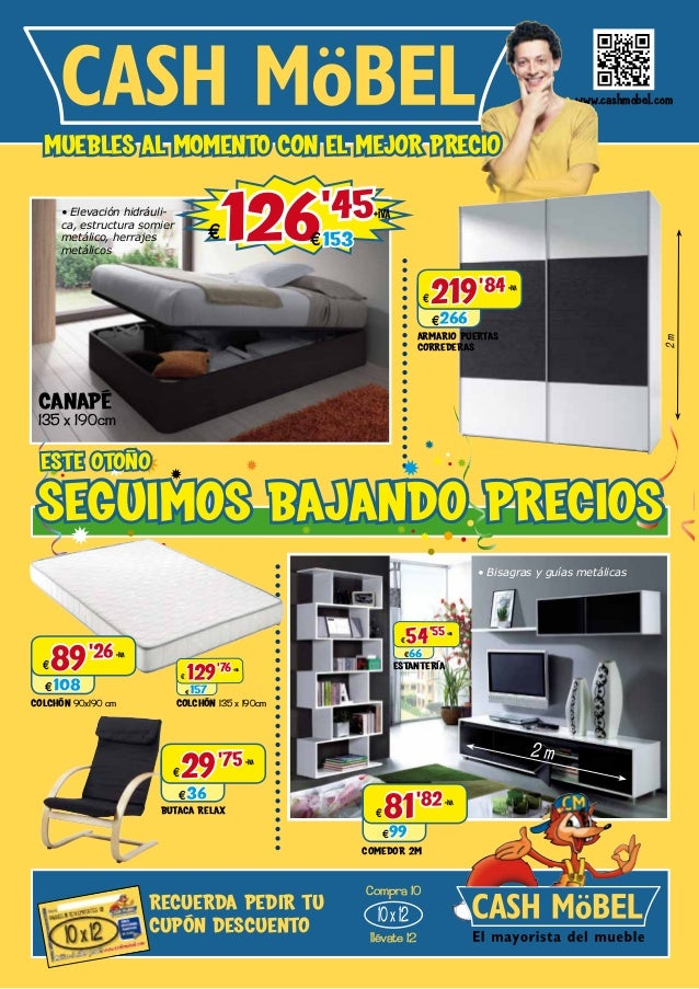 Muebles baratos cat logo de cashmobel for Comodas ahorro total