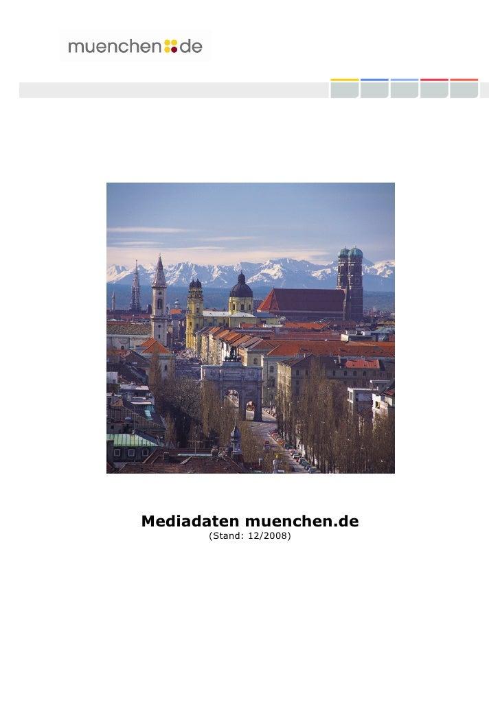 Mediadaten muenchen.de       (Stand: 12/2008)