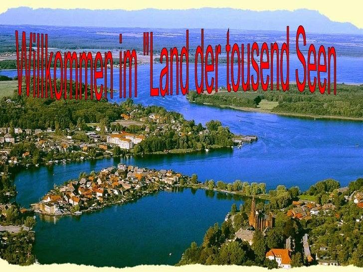 """Willkommen im """"Land der tousend Seen"""